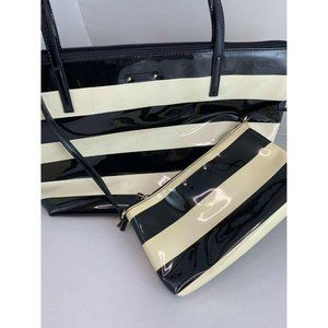 Kate Spade Sophie Patent Leather Striped Tote and
